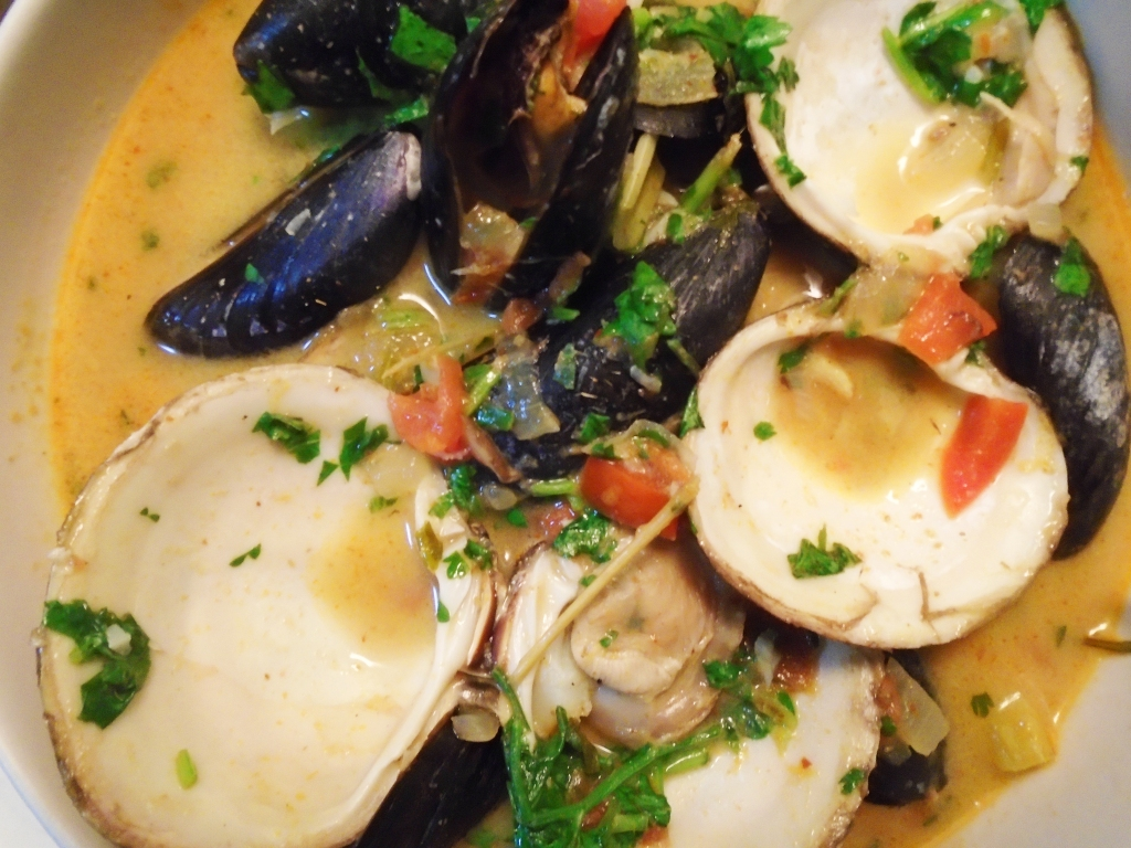 mussels and clams thai
